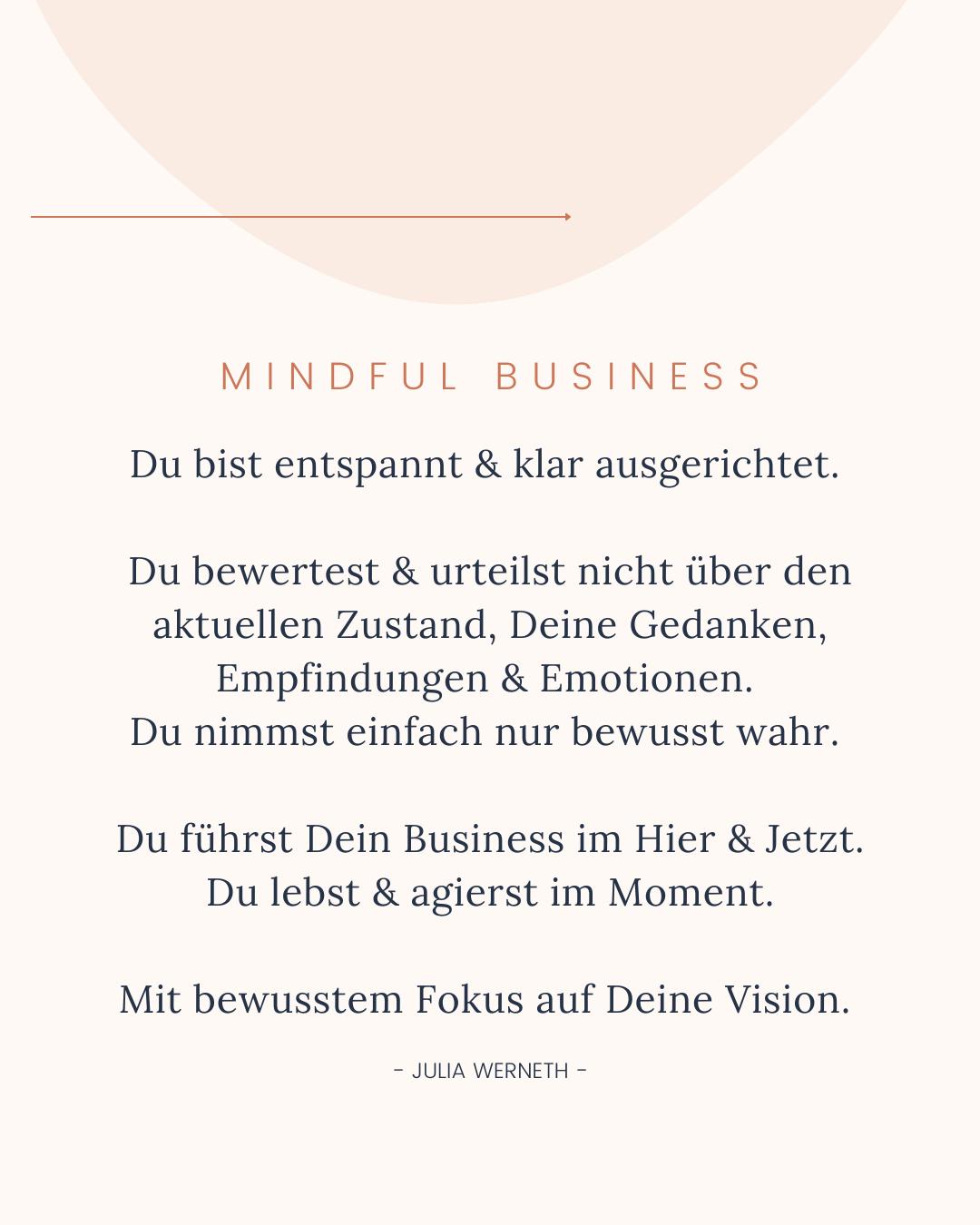Mindful Business Erklärung - Julia Werneth