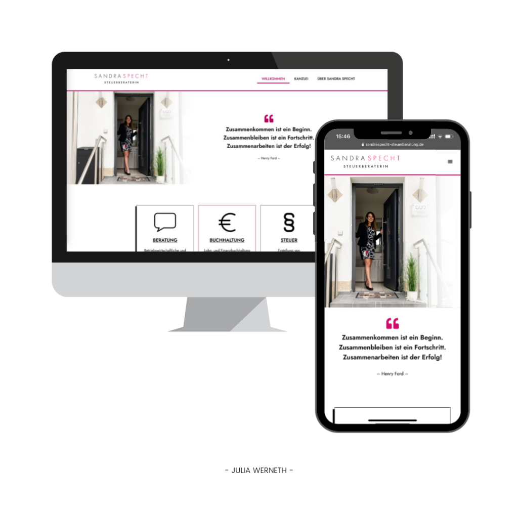 Julia Werneth Referenz Webdesign Sandra Specht Steuerberatung