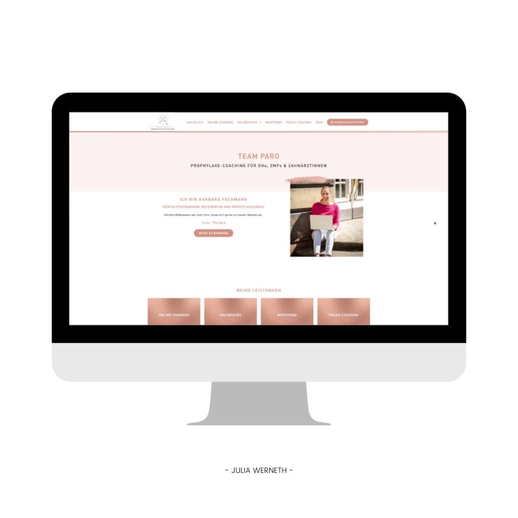 Julia Werneth Referenz Webdesign Team Paro Barbara Peckmann
