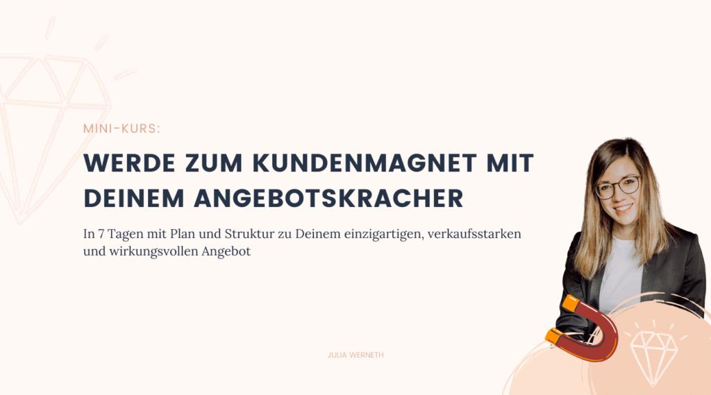 Mini-Kurs Angebotskracher Julia Werneth